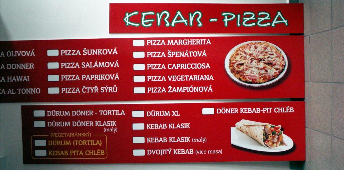 reklamni cedule, kebab